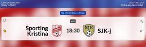 T12: Sporting-SJK-j, 28.7.2021 Brahekenttä kl. 18.30