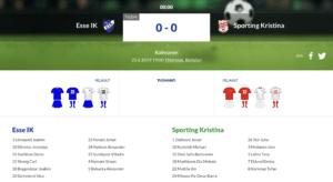 Esse IK – Sporting Kristina
