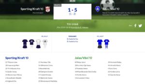 F15 Sporting/Kraft YJ – Jalas/VäVi YJ 1-5 (1-2)