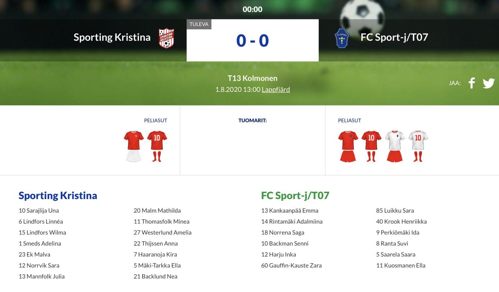 T13 Sporting Kristina – FC Sport