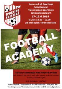 Kom med på Sportings fotbollsskola!