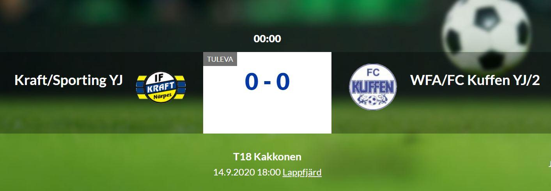F18  Kraft/Sporting YJ – WFA/FC Kuffen YJ