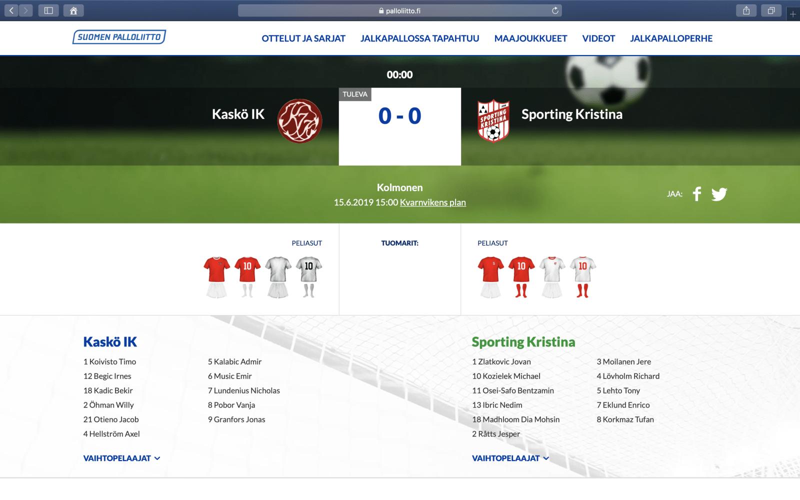 Kaskö IK – Sporting Kristina
