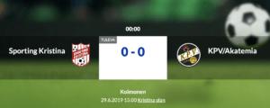 Sporting Kristina – KPV/Akatemia