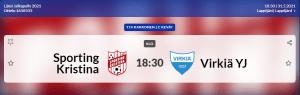 Sporting Kristina T14 – Virkiä YJ