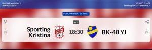 Sporting P12 spelar idag 5.7 på Kristinaplan kl. 18.30 Sporting – BK-48/YJ