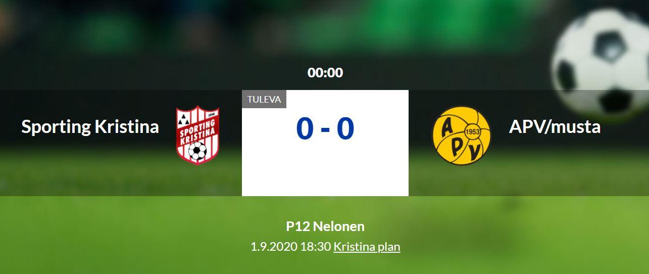 Sporting P12 hemmamatch mot Apv på Kristinaplan ikväll kl 18.30