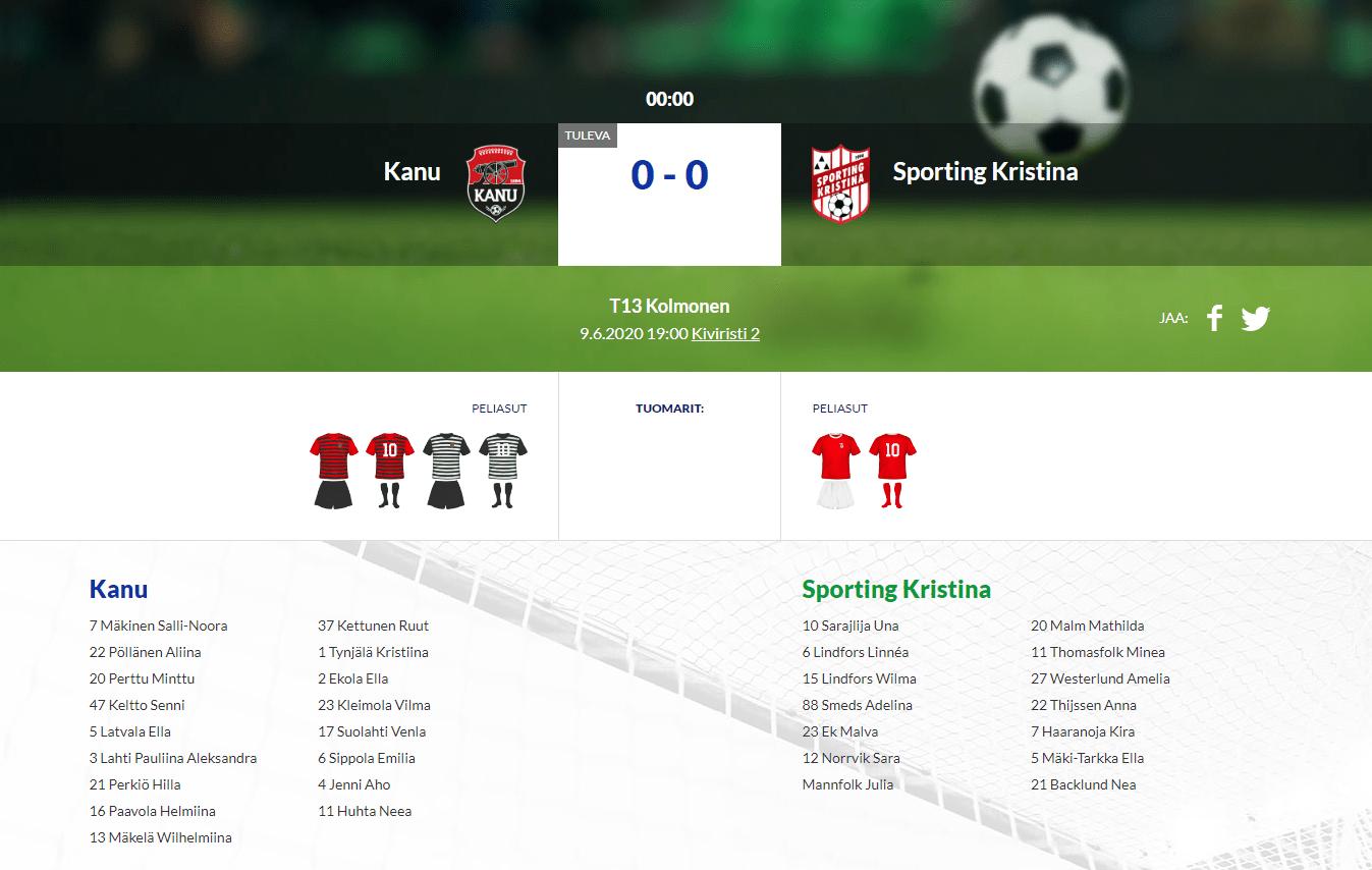 F13 Kanu – Sporting Kristina 09.06.2020 19:00