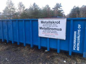 Sporting Kristinas metallskrotsinsamling