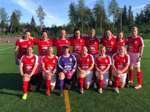 Sportings damer inledde serien igår i Vasa, Real Mama- Sporting 1-1