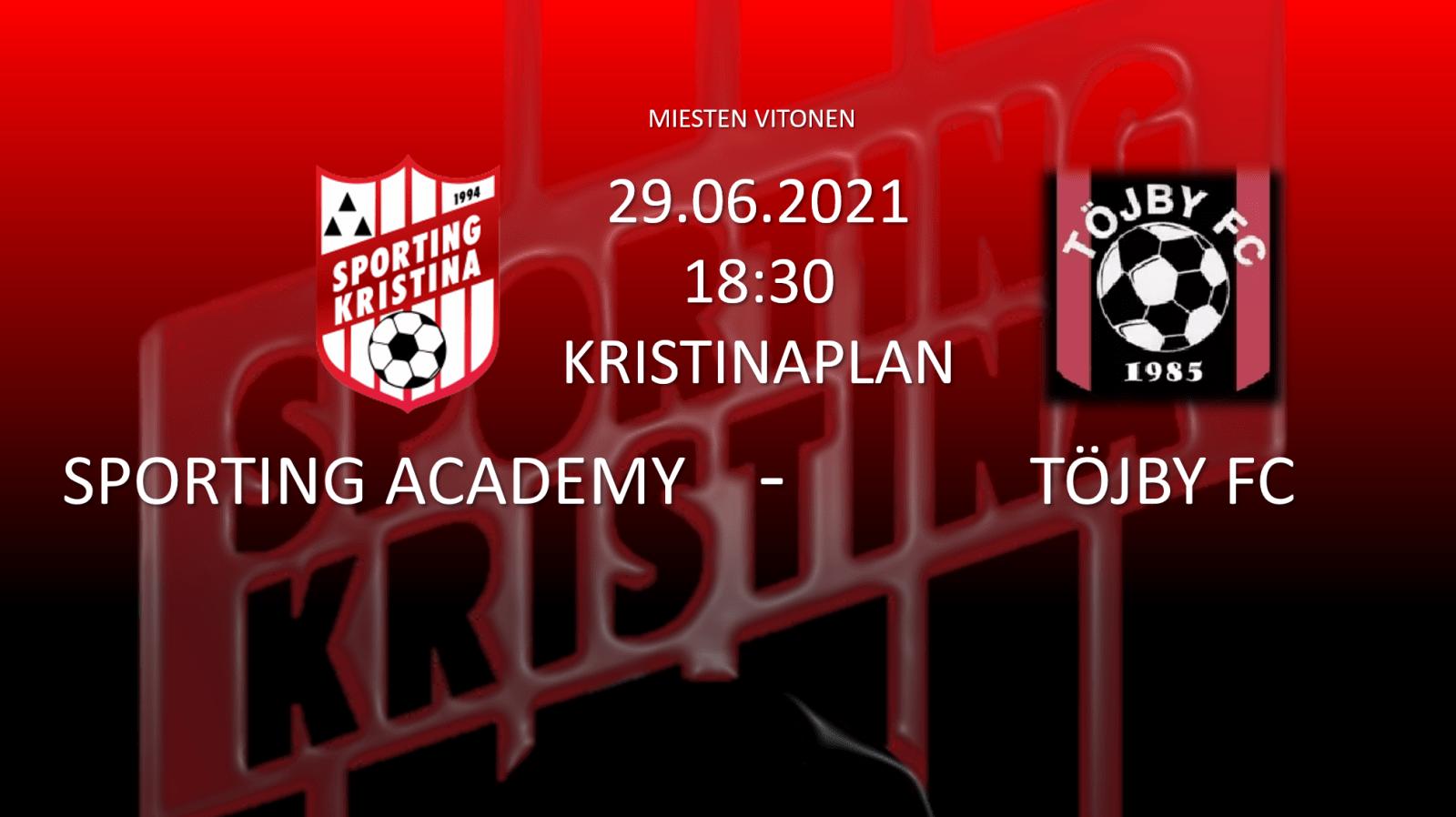 Sporting Academy – Töjby FC 29.06.21