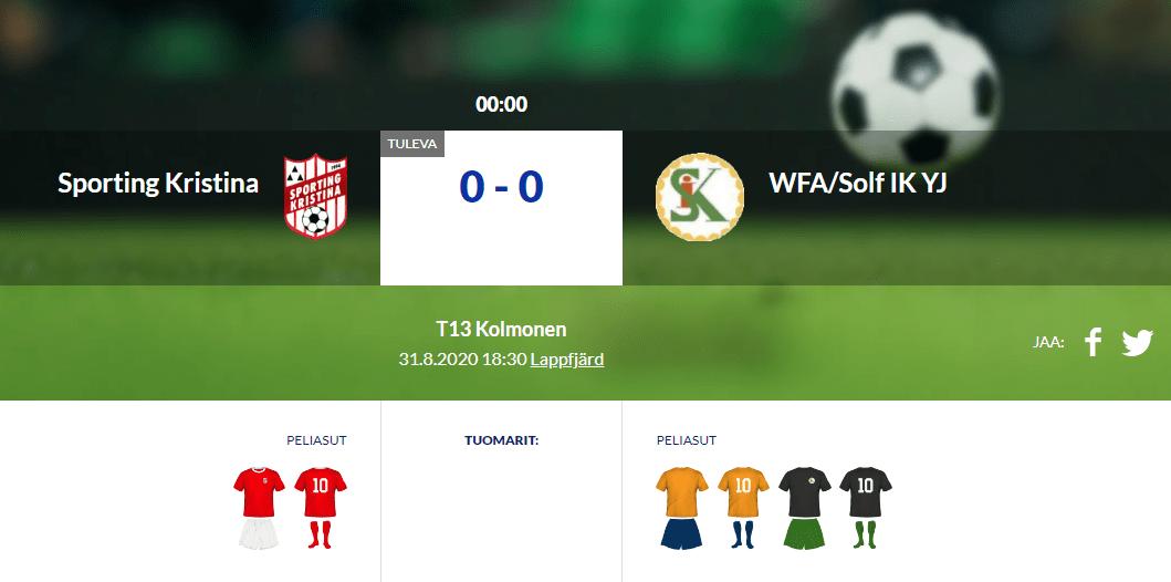 T13 Sporting Kristina – WFA/Solf IK YJ