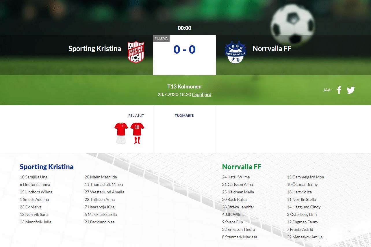 F13 Sporting Kristina – Norrvalla FF