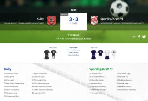 F15 KuRy – Sporting/Kraft YJ 3-3 (1-0)