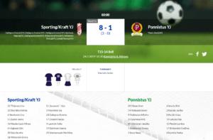 T15 Sporting/Kraft – Ponnistus YJ 8-1 (3-0)
