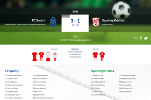 F12 FC Sport-j – Sporting Kristina 3-1 (3-0)