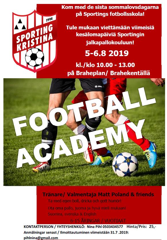 Football Academy 5-6.8.2019
