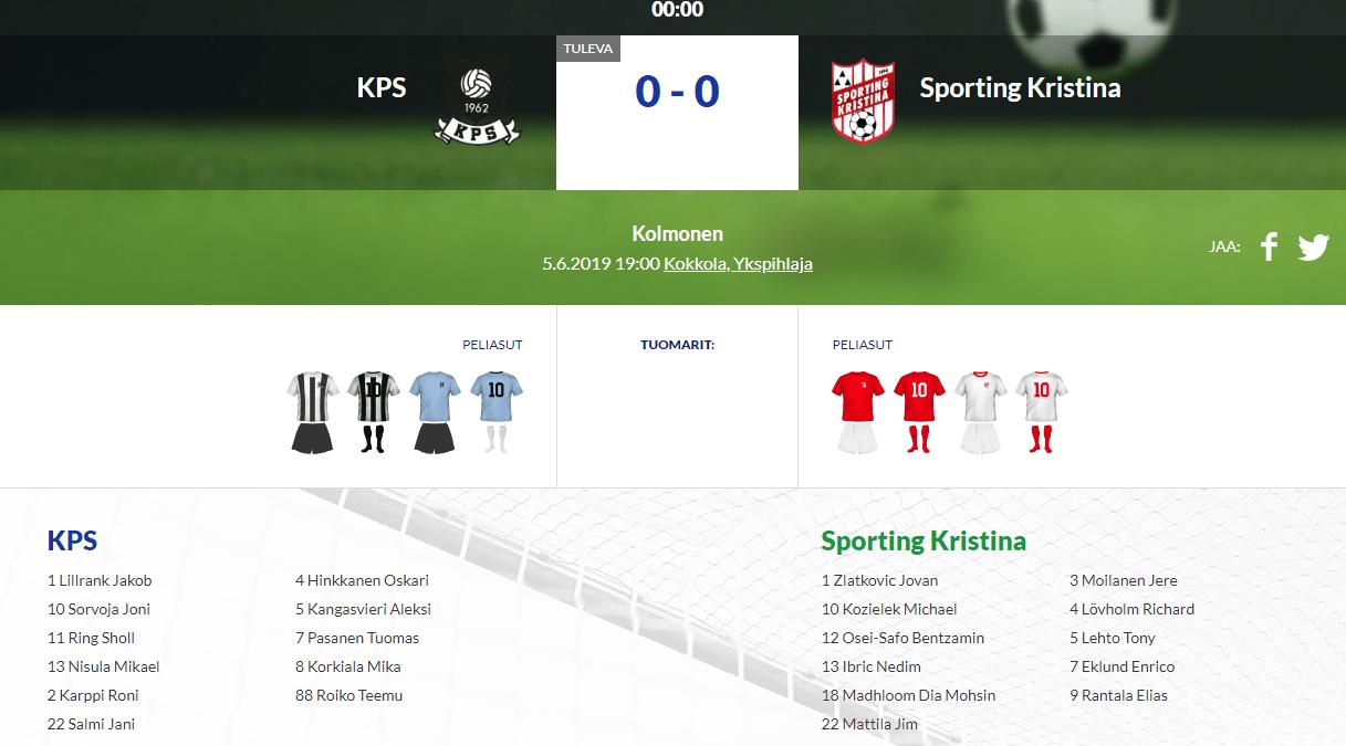 KPS – Sporting Kristina