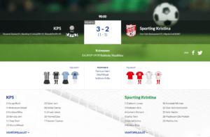 KPS – Sporting Kristina 3-2 (1-1)