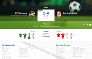 KPV/Akatemia – Sporting Kristina 2-0 (2-0)