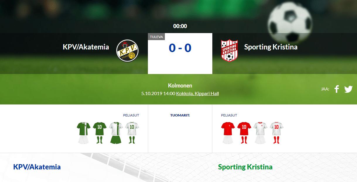 KPV/Akatemia – Sporting Kristina