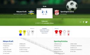 Kraft – Sporting 2-1 (0-0)