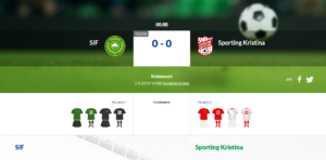 SIF – Sporting Kristina 0-0 (0-0)