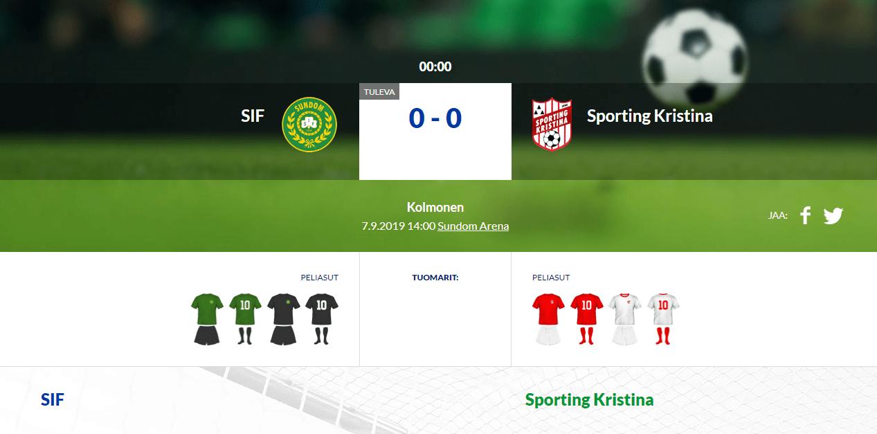 SIF – Sporting Kristina