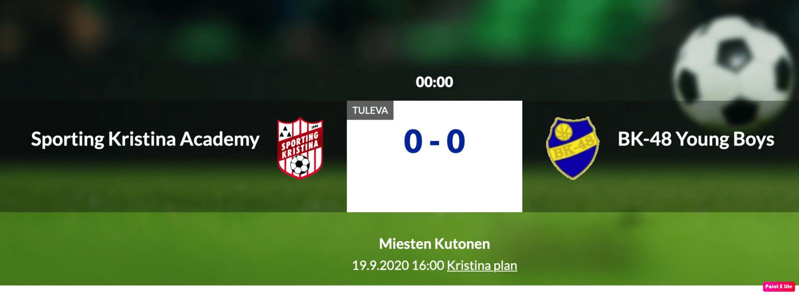 Sporting Kristina Academy – BK-48 Young Boys. Lördag 19.9 Kl. 16.00