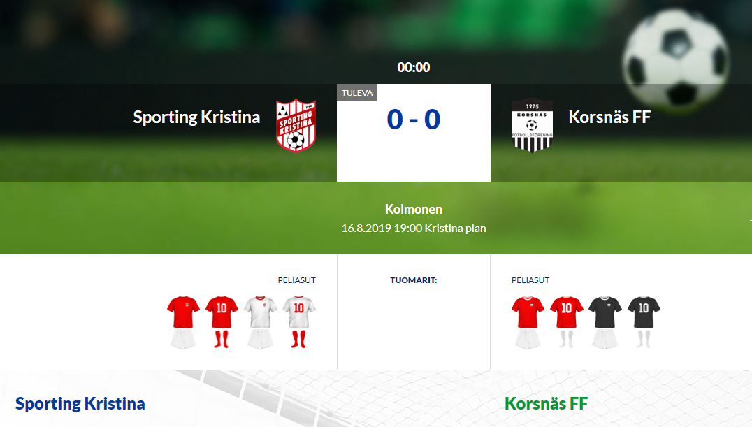 Sporting Kristina – Korsnäs FF
