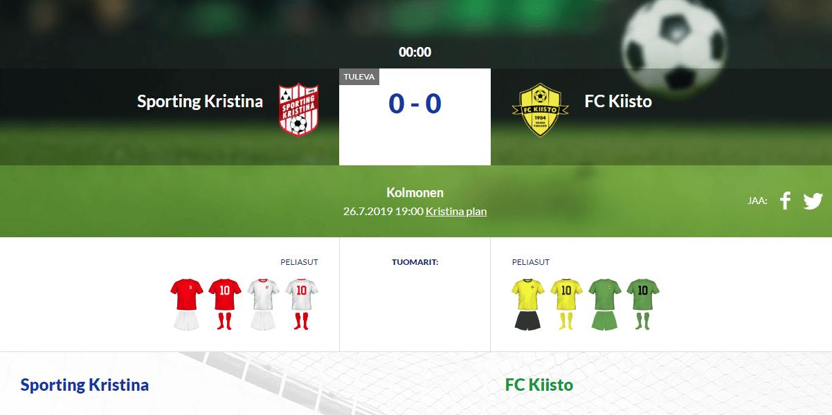 Sporting Kristina – FC Kiisto